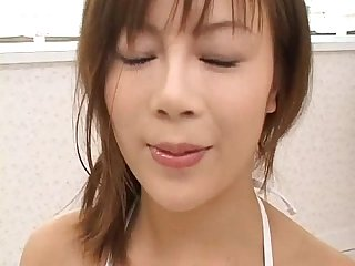 Japanese girl drinking piss