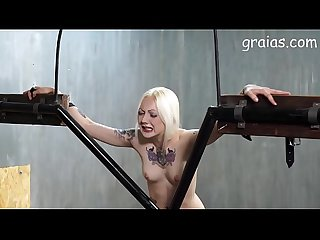 Nice tattooed girl caned