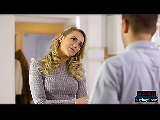 Teen babysitter mia malkova fucks the guy during interview
