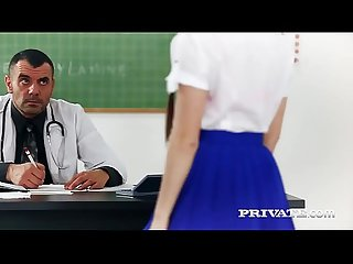 Private com trainee nurse cassie fire rides her teacher