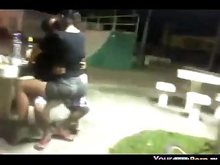 Teen Fucks Her BF In The Skatepark In Public