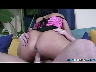 Creampied beauty spanked and doggystyled