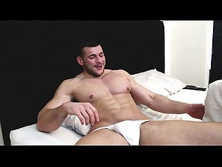 in bed with a big alpha muscle cock