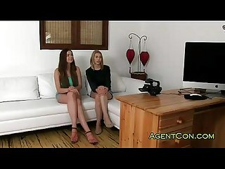 Fake agent fucks two amateur girls