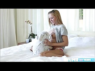 Adorable and blonde hollie mack gets fucked by dude wearing a hat