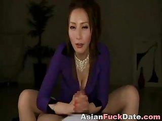 Nice asian handjob