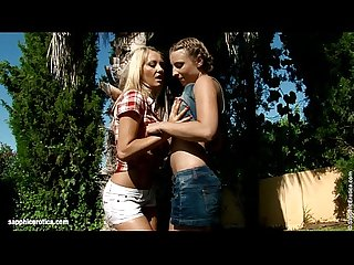 Seduced Gardener by Sapphic Erotica - lesbian love porn with Lena - Morgan