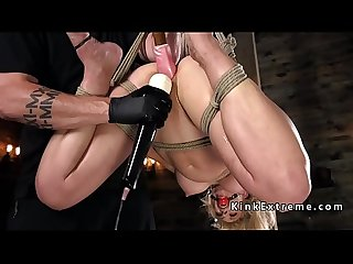 Blonde in bondage suspension fucked