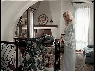 Black servant seduced by her hot blonde landlady in Sexy lingerie
