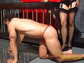 Mistress Natasha Sweet has fun with her helpless caged slave-6