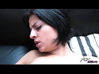 Slutry short hair angel Coco de mal raw fucked by stranger in his house