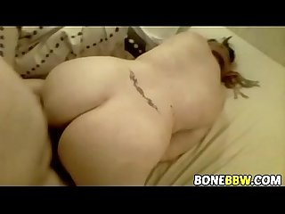 Blindfolded BBW gets fingered and fucked