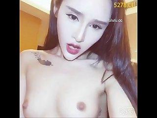 Thin chinese girl s masturbation