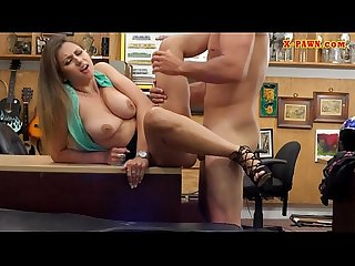 Sexy girl gets screwed at the pawnshop`