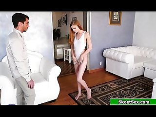 Redhead Ava Parker lubed up and banged