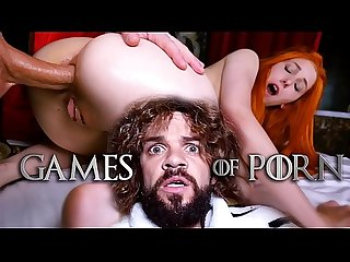 Tyrion Fuckister makes Lady Sansa suck his midget dick and fucks her ass - Game Of Porn..