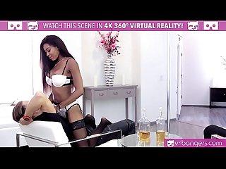 Vrbangers com hot ebony pole dancer Nadia jay fingered by 2 Buddies