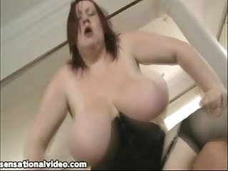 Redhead british bbw slut nikki may loves huge cocks