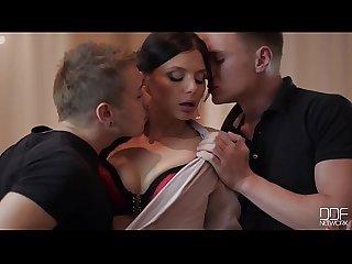 Naughty masquerade threesome with Lesbians loren minardi yasmin scott