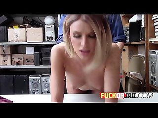 Hot Emma Hix gets busted shoplifting.