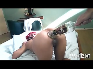 Anal fisting and xxl Bottle Insertions