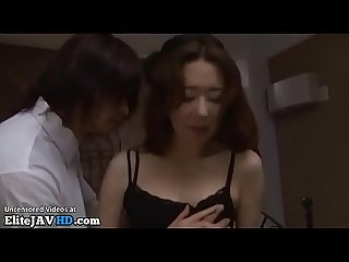 Japanese hot Milf in stockings fucked by y. guy