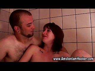 Teen redhead babe gets a cumshot