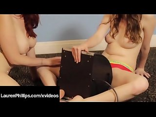 Long Legged Lauren Phillips & Jay Taylor Sit On Sybian Dick!