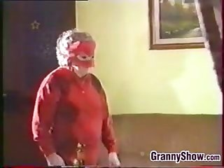 Kinky and masked granny having a great time