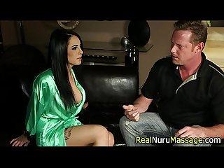Nuru masseuse cumshot