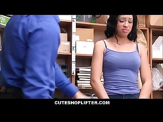Sexy Black Ebony Teen Shoplifter Amethyst Banks Strip Searched And Fucked By Horny Latino Mall Cop