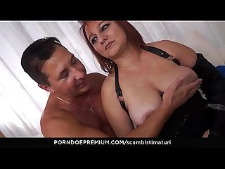 Scambisti maturi mature italian bbw kiara rizzi enjoys dirty anal swinger sex