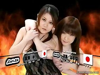 During A Japanese game show two female candidates ha from http colon sol sol alljapanese period net