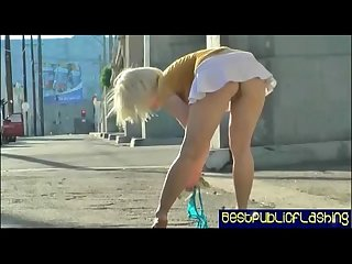 Ash hollywood hot platinum blonde gash flasher pt 1