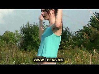 Young teenie naked