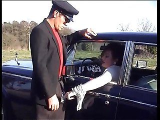 Jessica Rizzo gives a blow job in a luxury car