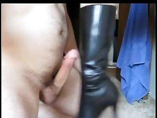 Asian bootjob