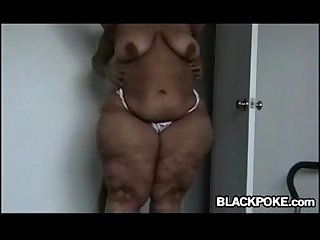 Huge black BBW gets fucked hard