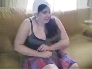 Painful Spanking for brunette bbw