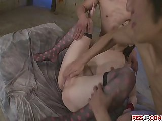 Milf tomoka sakurai creampied after a threesome