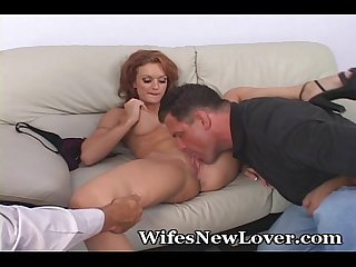 Hubby Jerks Off While Seeing Wife Pleased