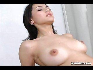 Japanese babe maria ozawa gets her asian pussy fucked hard