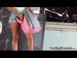 Big tits teen sarai her bag was stolen then fucked in public