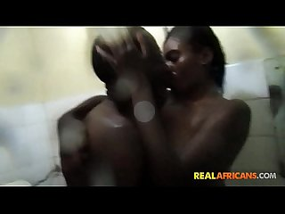 Big Titty African Gets Drilled in Shower