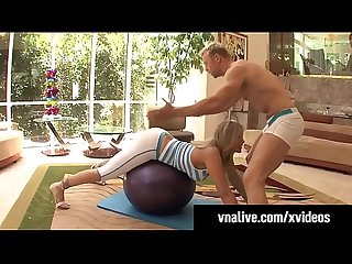 VNALive.com - Milf Julia Ann Cums Fucking Her Yoga Trainer!