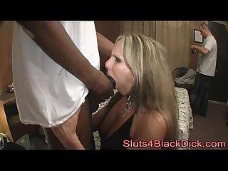 White Slut Banged In The Hood