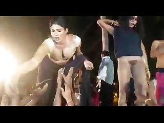 Indian sexy outdoor record dance andhra record dance on public