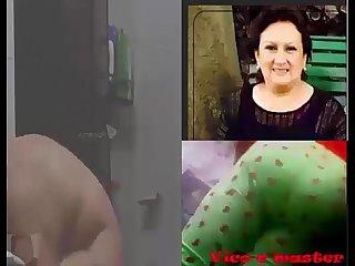 Espiando a mi Tia culona en la ducha