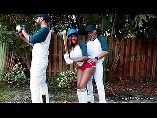 Baseball player bangs huge ass ebony gf