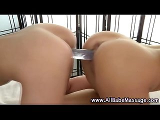Naughty fetish babes use toys